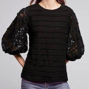 Anthro Eri + Ali 'Chelsea Pullover' Floral Top